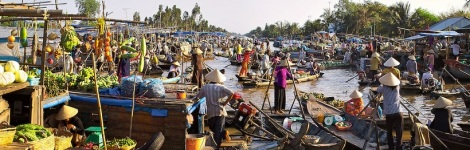 Floating Market of Mekong Delta