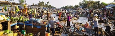 Floating Market of Mekong Delta