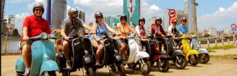 Saigon tour by Vespa Vintage