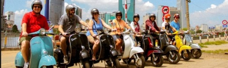 Saigon tour by Vespa Vintage