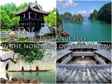 Entrance fee in the Northern of Vietnam
